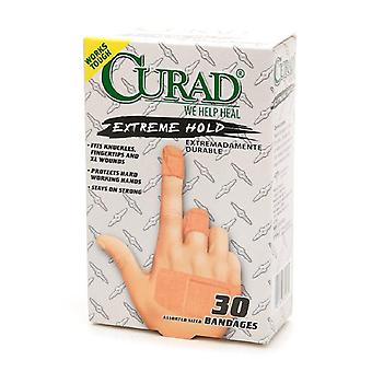 Curad extreme hold adhesive bandages, assorted sizes, 30 ea