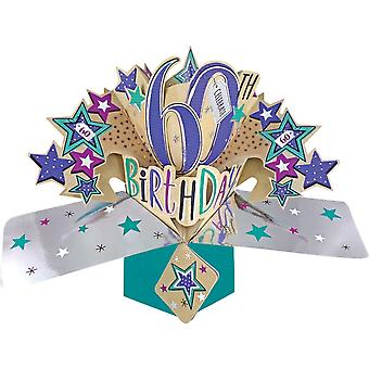Second Nature Pop Ups Card 60th Birthday