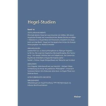 HegelStudien  HegelStudien Band 16 1981 by Pggeler & Otto