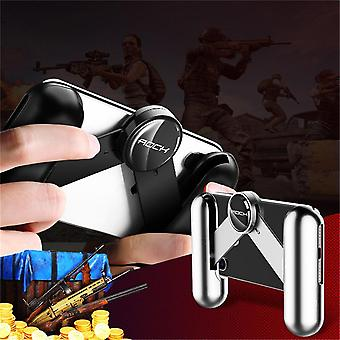 Rock spring extended foldable handheld grip holder game controller gamepad for samsung xiaomi (black)