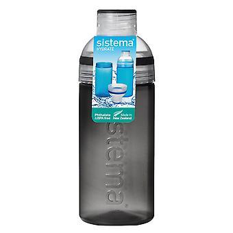 Sistema Trio Trinkflasche 580ml, schwarz