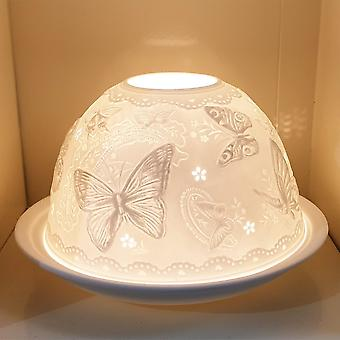 Nordic Lights Candle Shade & Plate - Butterflies
