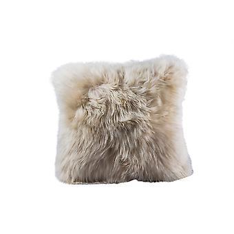 Nordvek Luxury Natural Sheepskin Cushion - UK Made - Duck Feather Inners - # 9001-100