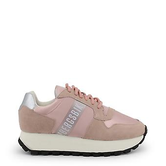 De leren sneakersschoenen van de vrouw b85815