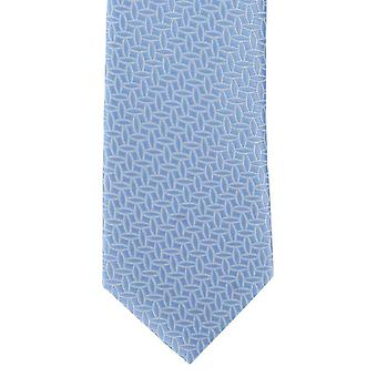 Michelsons of London Outline Geometric Polyester Tie - Blue