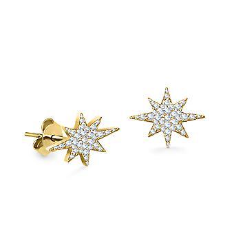 Korvakorut Stella Stud 18K kulta ja timantit