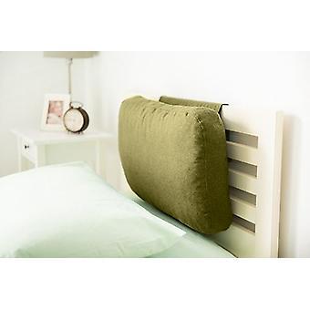 Passende Schlafzimmer Latte Wolle Effekt gewichtet Kopfteil | Rücken Hals Kopf Unterstützung | Schaum gefüllt | Weiche bequeme Bettwäsche | Home Schlafzimmer (Olive)