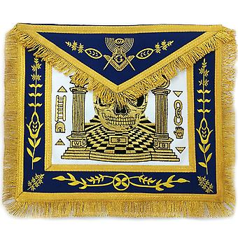 Custom design skull pillars masters carpet machine made apron gold