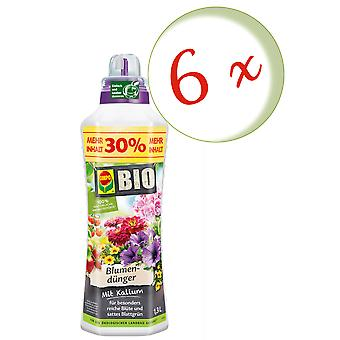 Sparset: 6 × كومبو بيو زهرة الأسمدة، 1.3 لتر
