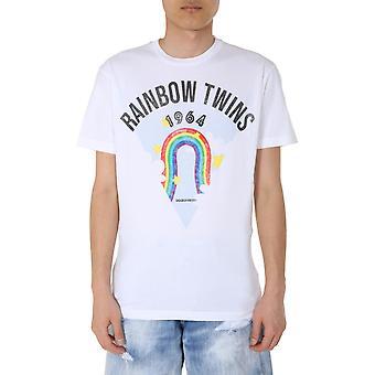 Dsquared2 S71gd0875s22844100 Miesten's Valkoinen Puuvilla T-paita