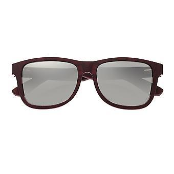 Earth Wood Solana Polarized Sunglasses - Rosewood & Ebony/Silver