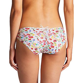 Aubade PY22-1 Women's Bahia & Moi Prairie Multicolour Floral Embroidered Knickers Panty Full Brazilian Brief