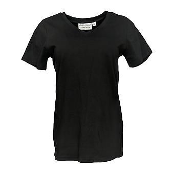 Linea by Louis Dell'Olio Women's V-Neck Stretch Top Black A308450