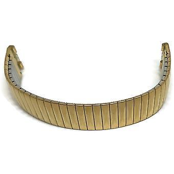 Pulsera auténtica reloj de muestra de 19 mm de ancho (17 mm de ancho de asa) chapado en oro