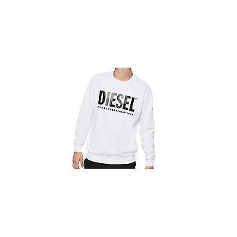 Diesel S-gir Division Cotton White Sweatshirt