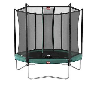 berg green ultimately favorit regular 280 9ft trampoline + safety net comfort