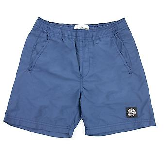 Stone Island Junior Logo Swim Shorts Navy Blue V0024
