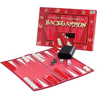 John Adams Luxusný masívny drevený backgammon
