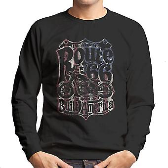 Rute 66 70 ' s US flag mænd ' s sweatshirt