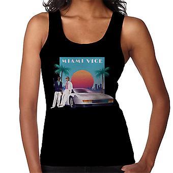 Miami Vice zonsondergang vrouwen ' s vest