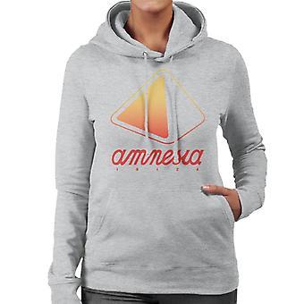 Amnesia Ibiza Orange Logo Damen Kapuzen Sweatshirt