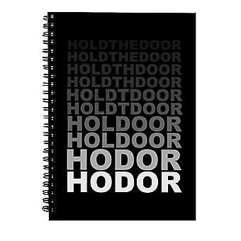 Hodor sostener la puerta fade juego de Tronos Cuaderno espiral