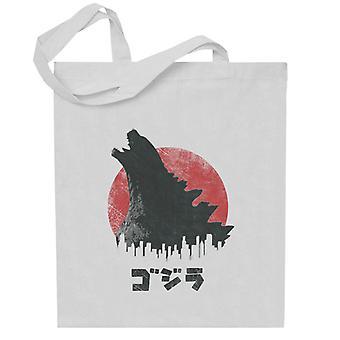 Godzilla Gud ødelæggelse Totebag