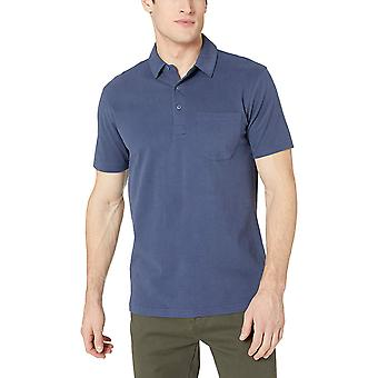 Goodthreads Men's Short-Sleeve Sueded Jersey Polo, Navy, Medium