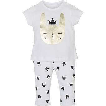 Mamino Baby Girl Baskili Vit 2 Bitar Pyjamas Set