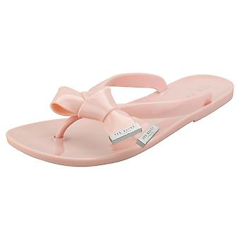 Ted Baker Luzzi Womens Flip Flop Sandals in Pink