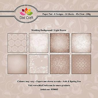 Dixi Craft 6x6 Tommer Paper Pack Bryllup Baggrund - Light Brown