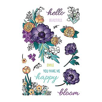 LDRS Creative Beautiful Blooms Clear Stamps