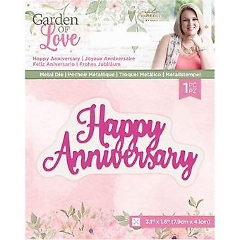 Crafter's Companion Garden of Love Happy Anniversary Dies