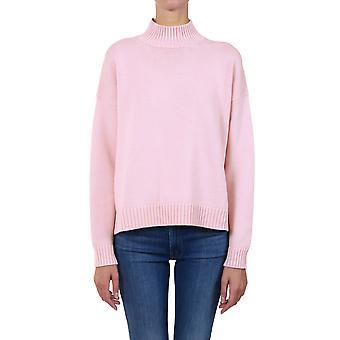 Ganni K1371480 Femme-apos;s Pull en laine rose