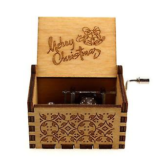 Happy Birthday-hand Crank Wooden Music Box