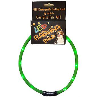 Animeren Walking Mate Knipperende Led Band 70cm Cut to Size - Groen