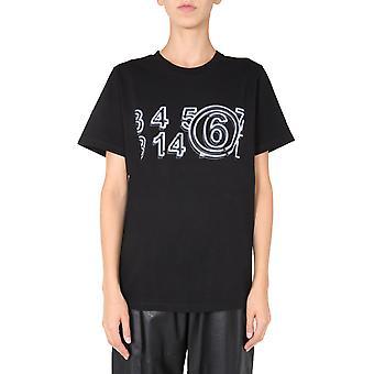 Mm6 Maison Margiela S52gc0165s23082900 Femmes-apos;s T-shirt en coton noir