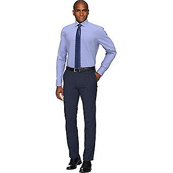 KNAPPET NED Men's Slim Fit Spread-Collar Non-Iron Dress Shirt (No Pocket), ...