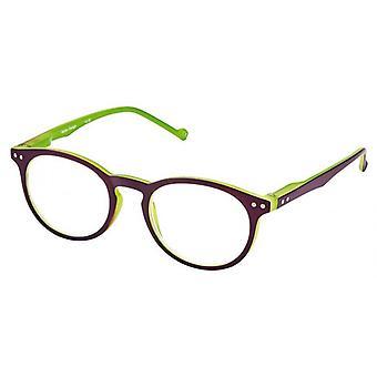 Reading Glasses Unisex Libri_x Bicolor Green/Purple Thickness +1.0
