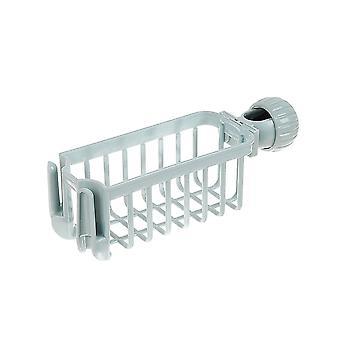 Kitchen Faucet Plastic Storage Rack Blue 23.5x7.5x7.5cm