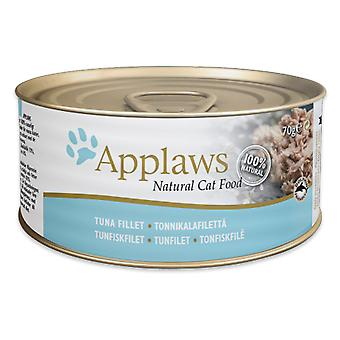 24 x 70g Applaws Natural Cat Wet Food Tuna Fillet Fish Natural Pet Snack