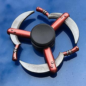 Zink legering Fidget Spinner Metal Tri Fidget Hand Spinner Finger Focus Speelgoed Gladde Electroplate Hybride Lager voor Kids Gift