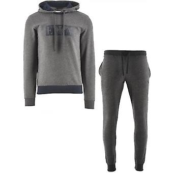 Emporio Armani Loungewear Grey Hooded Long Sleeve Sweatshirt & Trousers
