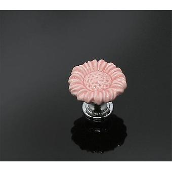 37mm kleurrijke keramische bloemkabinet knoppen / deur Pull Handvatten
