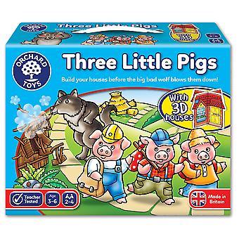 Boomgaard speelgoed drie spelletje varkens
