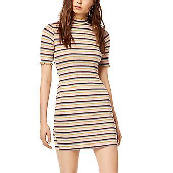 Socialite   Socialite Striped Mock-Neck Bodycon Dress
