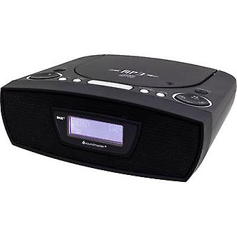 soundmaster URD480SW Radio alarm clock FM AUX, CD, USB Black