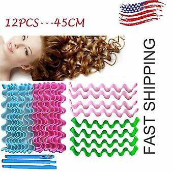 Brand New Style Water Wave Magic Curlers Formers Leverage Spiral Hairdressing