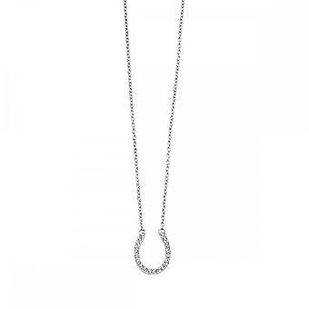 Anfänge Sterling Silber Pferd Schuh Halsketten N4318C
