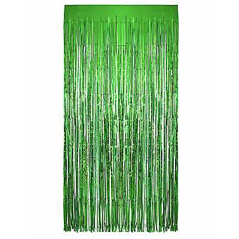 TRIXES Green Foil Curtain Party Backdroment Fringe Décorations pour parties - 2M